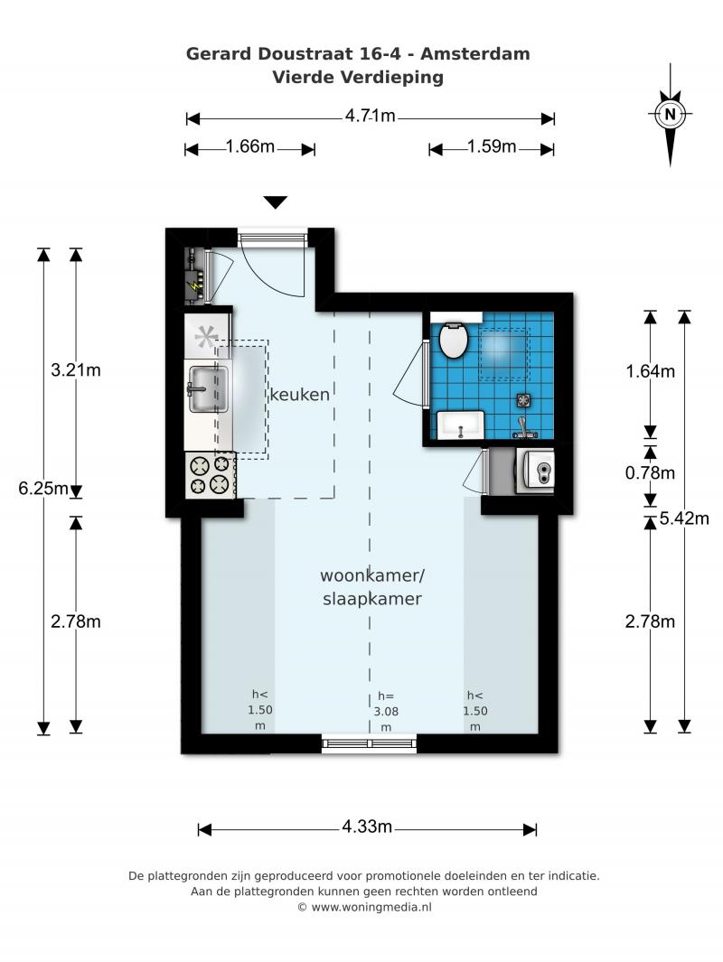 opdealtje in Amsterdam zolderkamer van 20m2 in de Pijp voor slechts 200000 euro 05