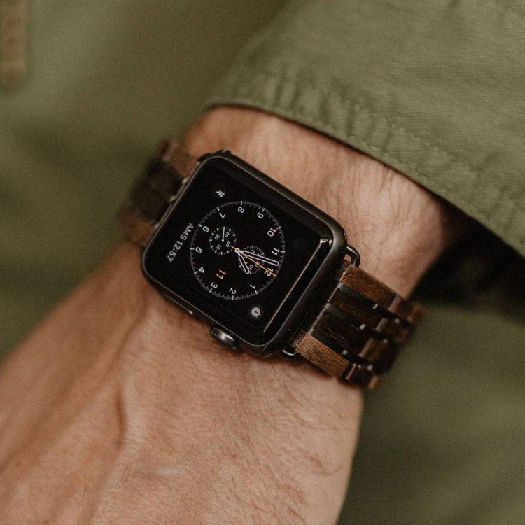 houten horloge heren apple watch