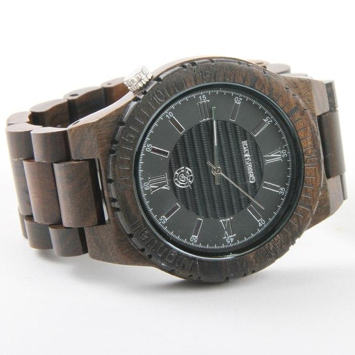 houten horloge heren donker