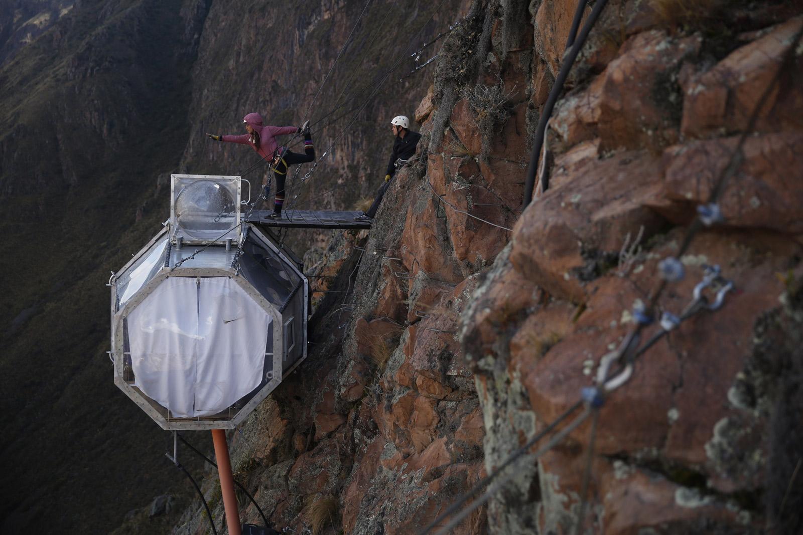 Skylodge Adventure Suites hotel in de bergen
