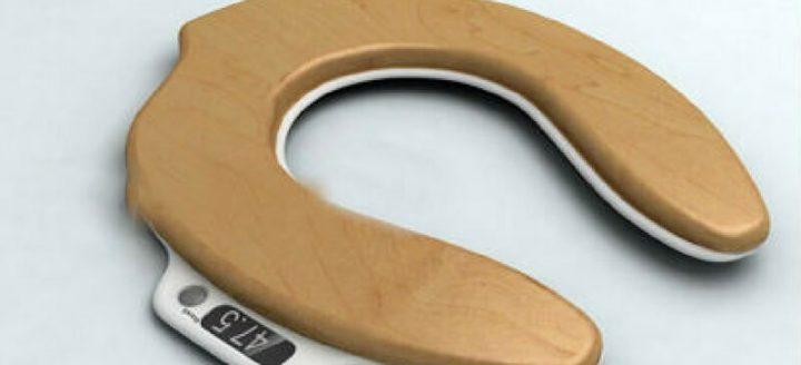 Met deze wc bril weegschaal kun jij voortaan zien hoe groot jouw boodschap echt was