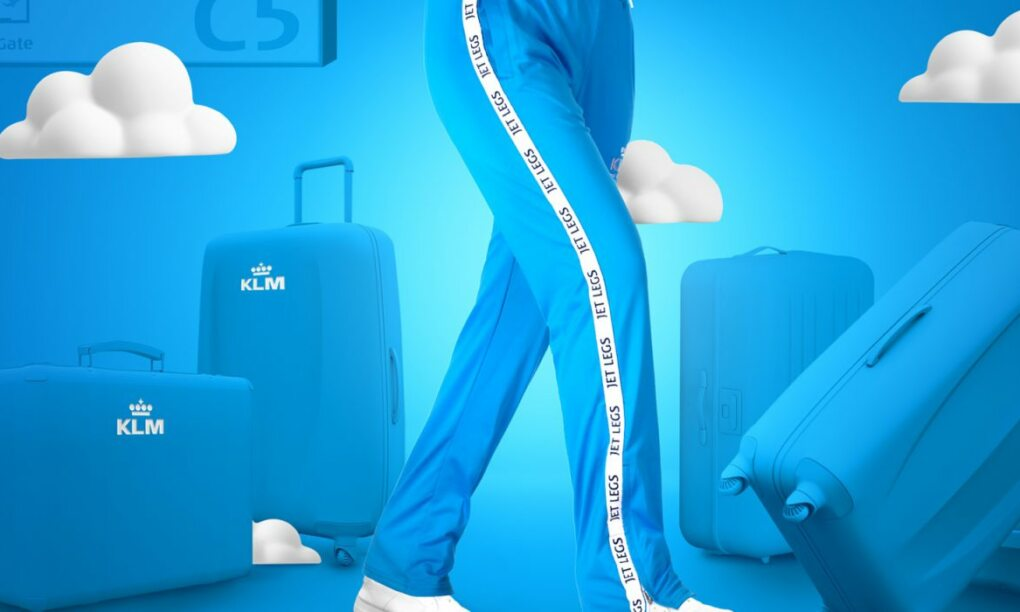 KLM komt met deze gruwelijke limited edition Jet Leg trainingsbroek