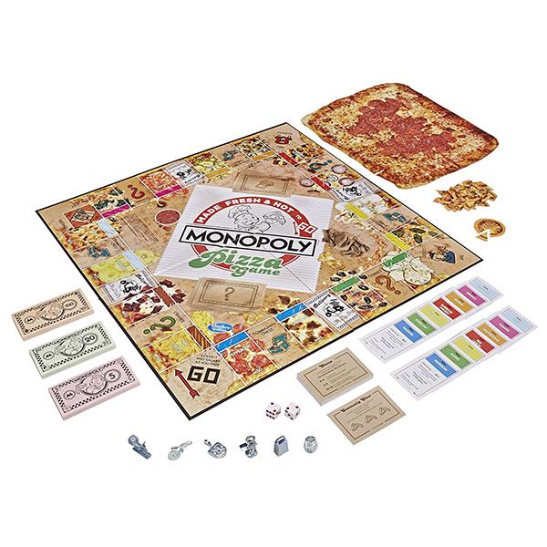 Met deze variant van Monopoly koop je Pizza in plaats van grond en huizen