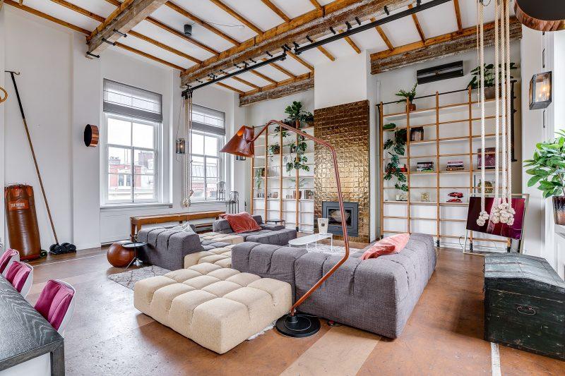 design, appartement, funda, gymzaal